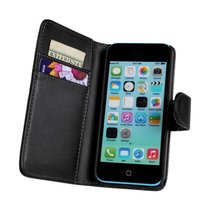 Flip Cover PU Leather Phone Bag Case For Apple IPHONE 5C Wallet Style Stand Design With Card Slot YBW