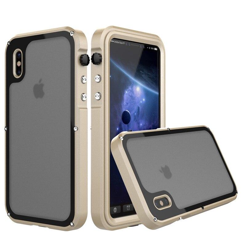 for iphone x metal waterproof case (1)