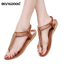 2016 New Woman Fashion Summer Shoes Wedges Sandals Pumps Sandy Beach Flip Flops(China)