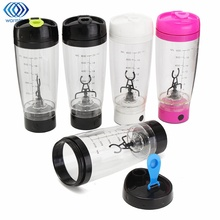 600ml Electric Protein Shaker Blender Auto Mixing Travel Stirring Mug Electric Milk Coffe Mixer Cup Transparent Lazy Stir(China)