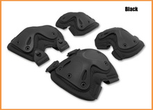 Black Tactical 4-in-1 Anti-Impact Military Knee Pads of X-type Knee Protector Support for CS and Extreme Sports good use