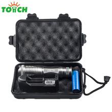 High Quality Cree T6 Bulb Led Gladiator Kit Flashlight Portable Zoom Linternas Hand 18650 Rechargeable Torch for Camping Tent