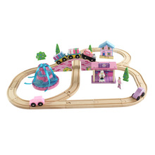 Thomas and Friends -- Thomas Train Set Track Set Wooden Railway Track EDWONE Pink Happy Birthday Cake Gifts Party For Kids