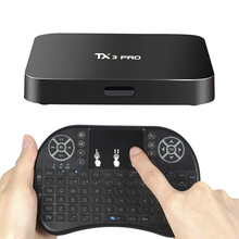 TX3 PRO Smart Android 6.0 TV Box S905X UHD 4K Mini PC WiFi & LAN H.265 DLNA Airplay Miracast Media Player with Wireless Keyboard