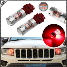 iJDM Brilliant Red 28-piece 3030 SMD 3157 T25 3156 LED Bulbs For 2011-up  Jeep Grand Cherokee For Daytime Running Lights