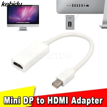 kebidu Promotion!! Thunderbolt Mini DisplayPort Display Port DP to HDMI Adapter Cable For Apple Mac Macbook Pro Air Notebook