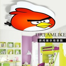 Little red bird male girls room lamps and energy-saving LED lamp cartoon lovely children bedroom ceiling lamps FREE SHIPPING