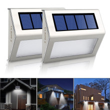 Buy  (2pcs/Lot) Solar Power LED Outdoor Lamp Wall Light Waterproof Energy Saving Street Yard Path Home Garden Security Lamp for $12.84 in AliExpress store