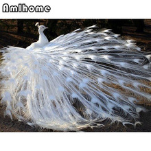 AMLHOME DIY Diamond Embroidery Peacock Painting Cross Stitch Home Decoration Full Mosaic Crafts 3d Kit For Needlework HC0014