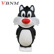 VBNM lovely black cat USB flash drive 32GB 16GB Pen Drive 8GB 4GB Memory Stick USB Disk Thumb drive Doll Toys Gift