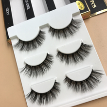 3 Pairs Natural Long False Eyelashes Charm Big Eyes Handmade eyelash 3D Cross Fake Eye Lashes Extension Makeup Tools(China)