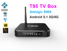 10pcs T95 Android TV Box Amlogic S905x Quad Core Smart TV 1G/8G 2G/8G HDMI OTG RJ45 USB H.265/HEVC