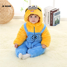 Promotion Price Infant Baby Kid Children Cartoon Long Sleeve Winter Rompers Jumpsuit Boy Girls Animal Coverall Baby Wear Clothes