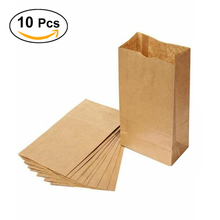 10pcs 24*13*8cm Party Favor Bags 70g Yellow Treat Food Kraft Paper Sack Pouch Bags(China)