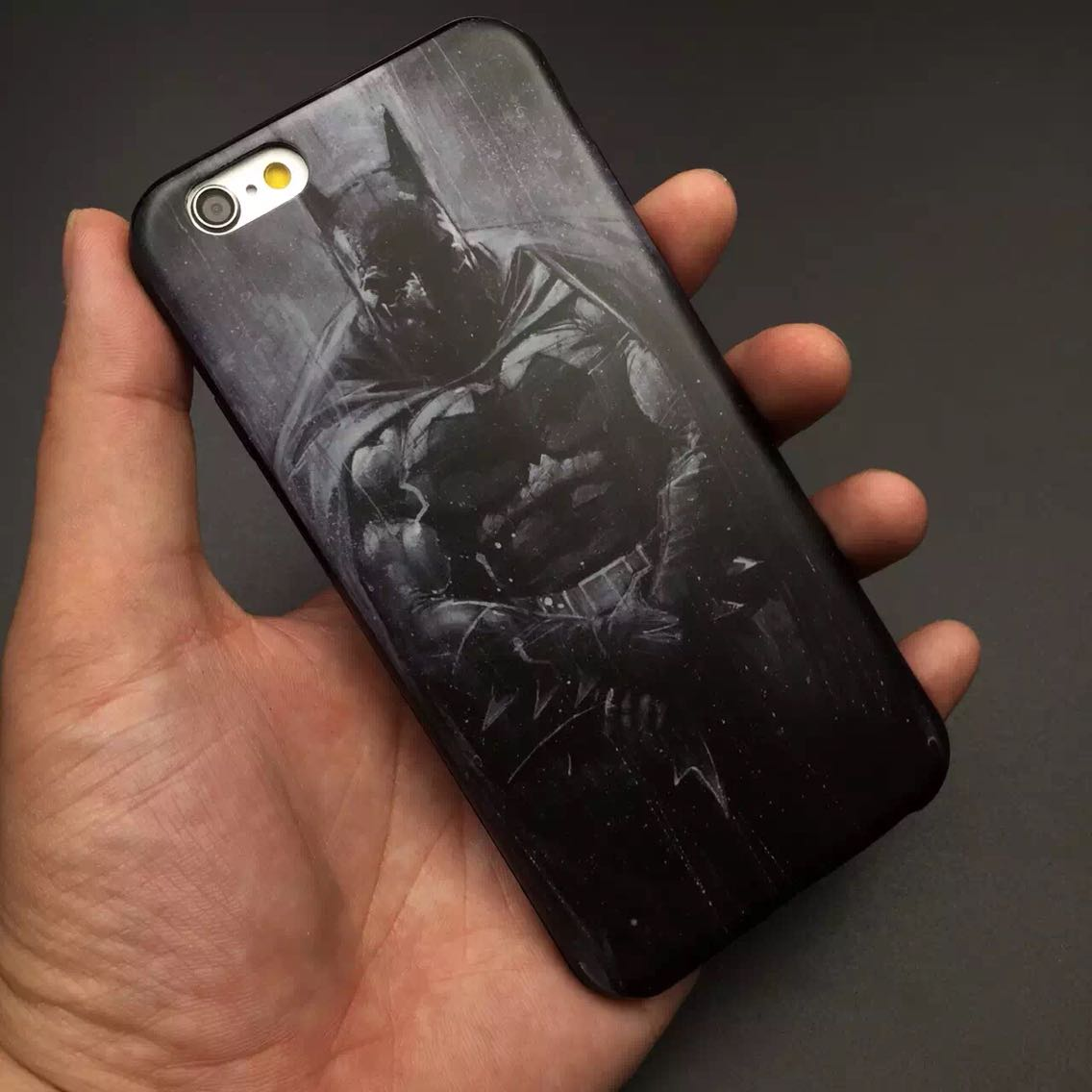 "Painting Captain America batman Phone Case For iPhone 6 6S Plus 4.7"" 5.5"" Case Hand Painted Black White Ultra Thin Back Cover(China (Mainland))"