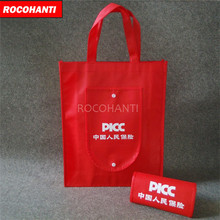 100PCS Custom LOGO Printed Foldable Non Woven Tote Bag with Large Storage Space , Two Handles