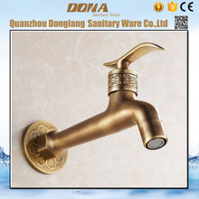 Free shipping Single cold single handle solid brass washing machine faucet with antique finishing fast on tap bibcock