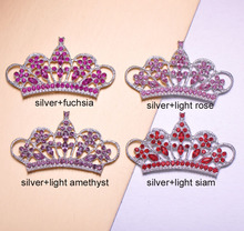 (M0841)58mmx33mm rhinestone embellishment , or light rose ,flat back,9 styles, crytals and acrylic beads(China)