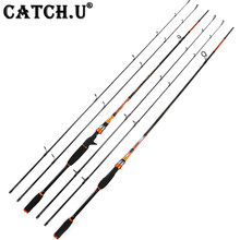 2 Tips M/MH Action 2.1M 7-28g 8-35g Carbon Fiber Lure Baitcasting Spinning Fishing Rod
