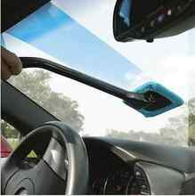 Auto Window E8T Handle Cleaner Car Wash Brush Dust Towel Handy Washable Cleaner