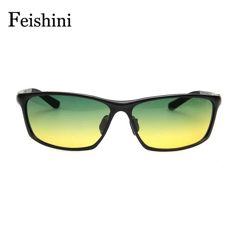 FEISHINI Day&amp;Night vison Multifunction Aluminum Magnesium alloys Glasses Men exercise Car mens Sunglasses  Polarized UV400<br><br>Aliexpress