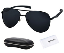 Agstum Aviator Sport Glasses Spring Hinge Polarized Sunglasses Goggles Mirror Lens 60mm(China)