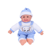 40cm Kawaii High Quality Beautiful Plush Silicone Baby Electric Doll Kids Playmate Soft Early Educationla Toys for Baby Children