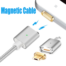 Magnetic Cable Micro USB Magnetic Charger for Xiaomi Samsung HTC Huawei OPPO LG Android Mobile Phone Cable Magnet Charge(China)