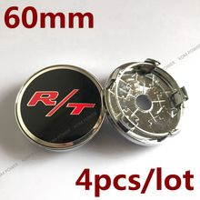 KOM POWER 60MM R/T Sticker Wheel Center Caps Emblem Badge Wheels Cover Hub Cap For Dodge Charger R/T