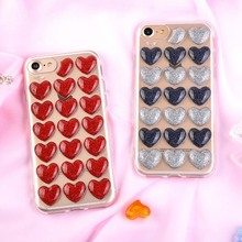 Buy Phone Cases iPhone X 8 7 6 6s Plus Funds Glitter Powder Love Heart Case Bling Transparent Soft TPU Gel Phone Back Cover Gift for $1.49 in AliExpress store