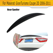 For GT Rear trunk Boot Lip Spoiler wing for Maserati GT GranTurismo Coupe 2 Door 2006-2011 Non Convertible Black FRP Car Styling