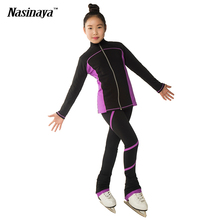 4 Colors Customized Clothes Ice Skating Figure Skating Suit Jacket And Pants Rolling Skater Warm Fleece Adult Child Girl Twining