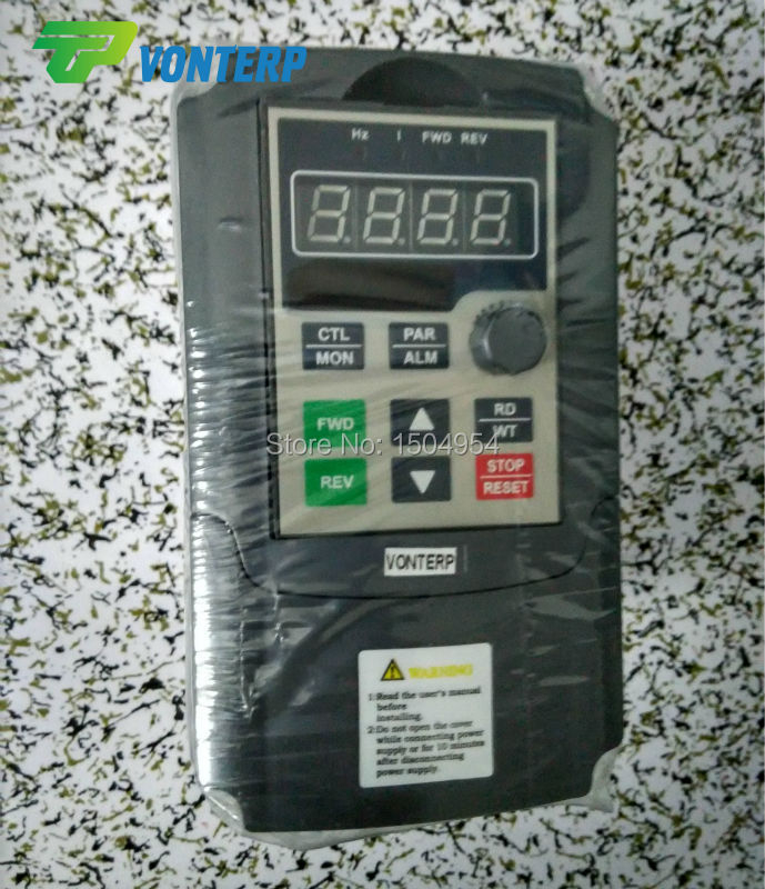 VTP5M-0R7-G1 220v 0.75KW 4A single phase input and 220v 3 phase output variable speed drives/VFD<br><br>Aliexpress