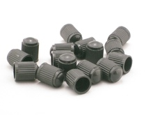 100pcs BLACK PLASTIC TIRE VALVE STEM CAPS Dust Cover