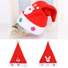 Kid Cheer Christmas Hat Children Santa Claus Reindeer Snowman Party Cute Cap wedding decoration Christmas Party Supplies 555(China)