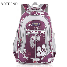 VRTREND Junior High School Backpacks For Girls Primary Kids Bags High Quality Large Size Capacity School Bags For Children Girls(China)