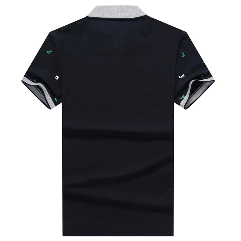 2Pcs Lot Mens  Shirt Coon Polka Dot Summer Short 3XL Male  Men Top Tees Cool Muls Brand Clothing Navy Black White Gray-06