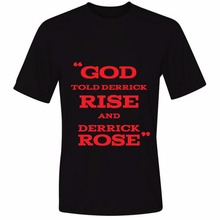 Derrick Rose - God Told Derrick To Rise Mens & Womens Personalized T Shirt Custom T Shirt