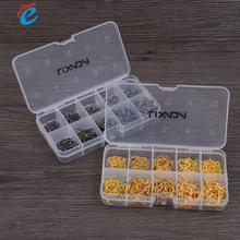 Lixada fishing hook 600pcs Carbon Steel Fish Jig Hooks with Hole Set Fish Jig Hooks with Hole Fishing Tackle Box