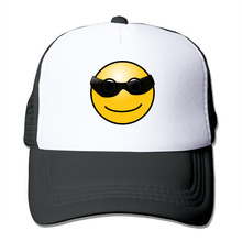 DUTRODU Unisex Baseball-caps Meshback Cool Smiley Face Hat Caps hip hop hat vary colors fitted(China)