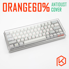 orange acrylic anti dust keyboard cover box free shipping custom keyboard box for gh60 60% xd64 xd60 infinity60 xd75re xd75