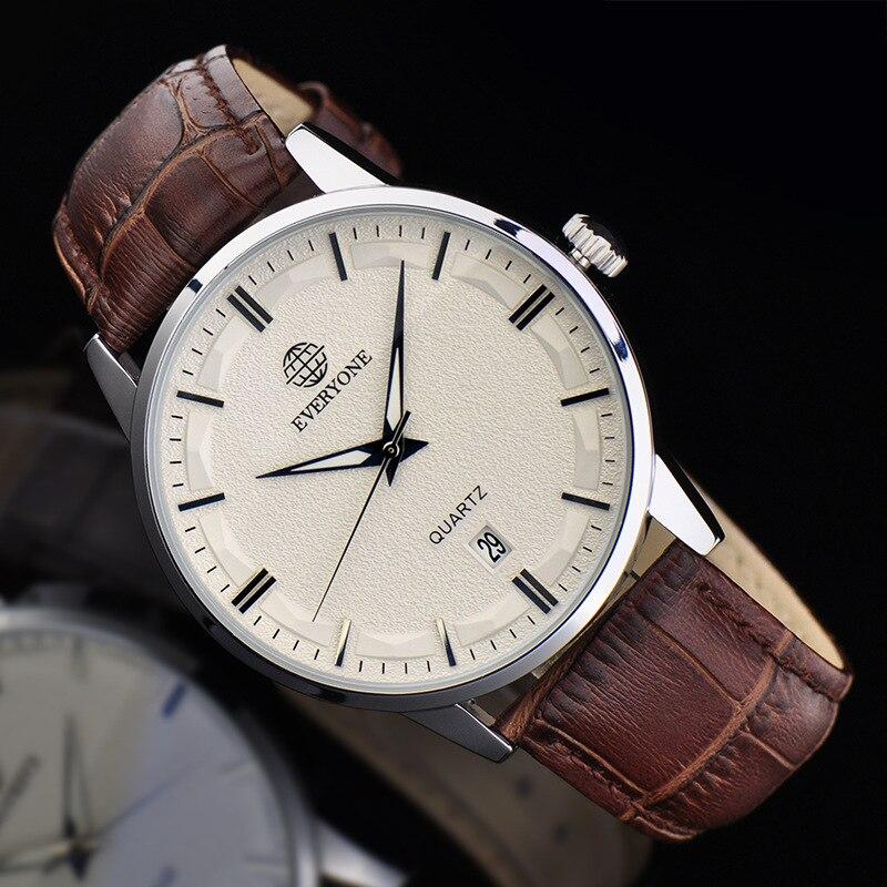 Fashion Business Male Watch Watch Leather Strap Sapphire Glass Waterproof Quartz Watch Mens Clock Relogio Masculino<br>