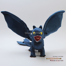 Plush How to Train Your Dragon Night Fury Toothless Plush Toy Soft Animal Doll 44CM Christmas Toothless Gift  Free Shipping