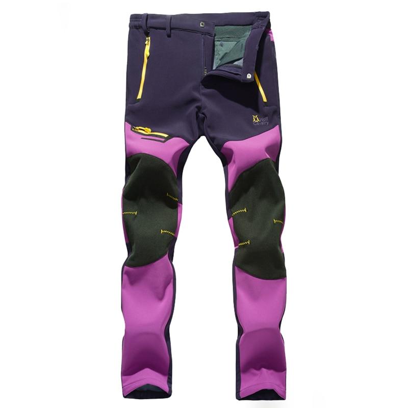Women Fleece Inside Warm Autumn Winter Softshell Hiking Pants Full Length Polyester Trousers Outdoor Sports Fishing Pants RW051<br><br>Aliexpress