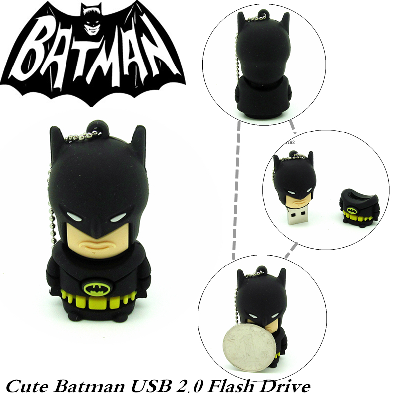 super hero series usb flash drive batman pen drive 4GB 8GB 16GB 32GB pendrive memory stick U disk USB2.0 real capacity(China (Mainland))