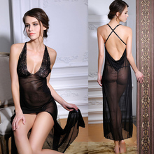 Cheap Sexy Lingerie Women Fashion Club Wear Black See Through Girl Babydolls  Sexy Seducing Exotic Lingerie