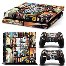 Grand Theft Auto GTA V 5 Vinyl Decal PS4 Skin Stickers for PlayStation 4 Console and 2 Controllers Decorative Skins