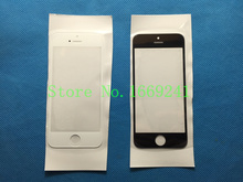100% Original Black / White Top NEW Replacement LCD Front Touch Screen Glass Outer Lens for iphone 5 5G 5S 5C 10pcs/lot
