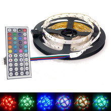 Christmas RGB LED Strip 3528 SMD LED Flexible Bar Light 5m 600leds Non Waterproof String Ribion Tape Lamp Strips +12V Adapter