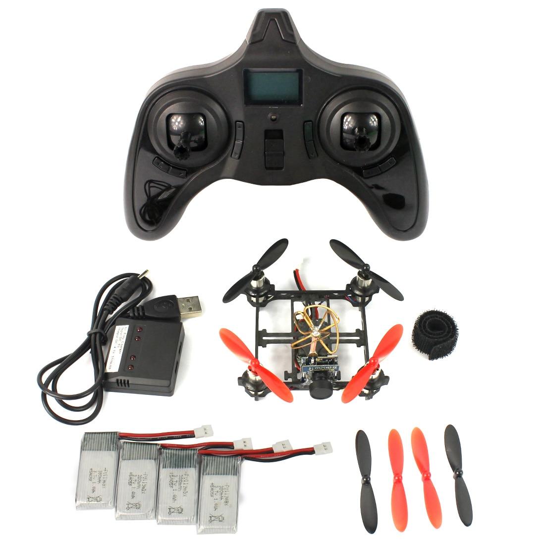 F19032-B/C Mini Tiny QX80 80mm Carbon FPV Brushed Indoor RC Quadcopter DIY RTF Assemble Kit H107 Flight Control 5.8G 25mW Camera<br><br>Aliexpress